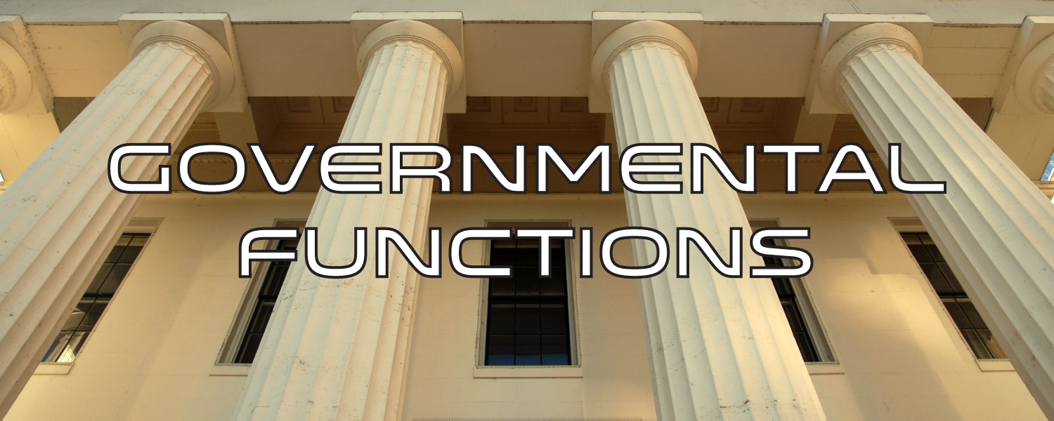 Governmental Functions